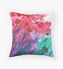 Flowers - Dancing Poppies Floor Pillow