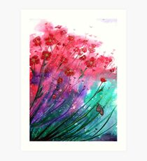 Flowers - Dancing Poppies Art Print