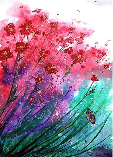 Flowers - Dancing Poppies by Linda Callaghan