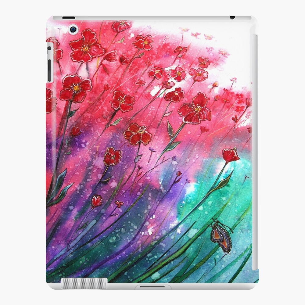 Flores - Dancing Poppies Funda y vinilo para iPad