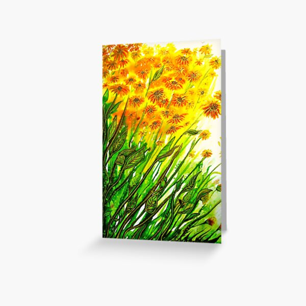Sizzling Sunflowers  Greeting Card