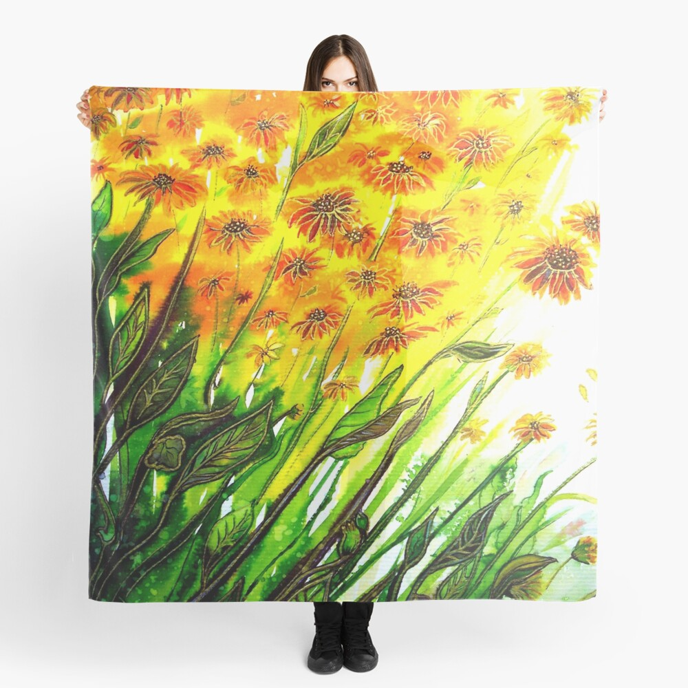 Sizzling Sunflowers  Scarf
