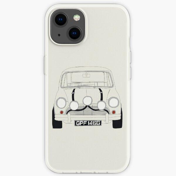 Weißer ursprünglicher Mini Cooper - der italienische Job iPhone Flexible Hülle