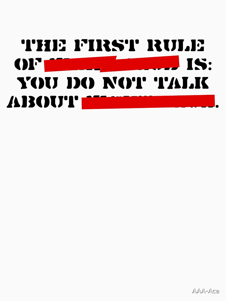 the first rule of fight club | Unisex T-Shirt