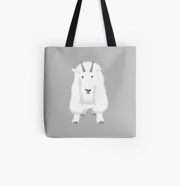 Mountain Goat All Over Print Tote Bag