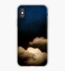 Clouds in a scratched darkness iPhone Case