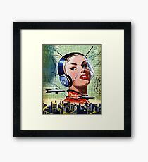 Retro Science Fiction Framed Print
