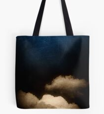 Clouds in a scratched darkness Tote Bag