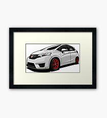 Honda Fit GK5 White Framed Print