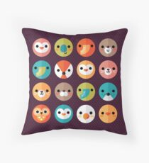 Smiley Faces Throw Pillow