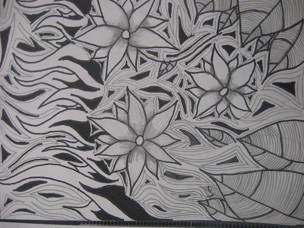 flower design drawing by bljaromin