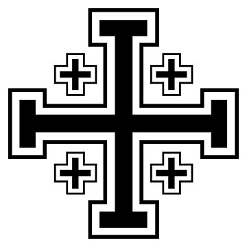 Jerusalem cross by Teepack