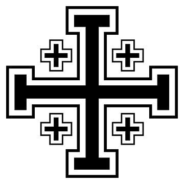 Jerusalem cross by Teepack