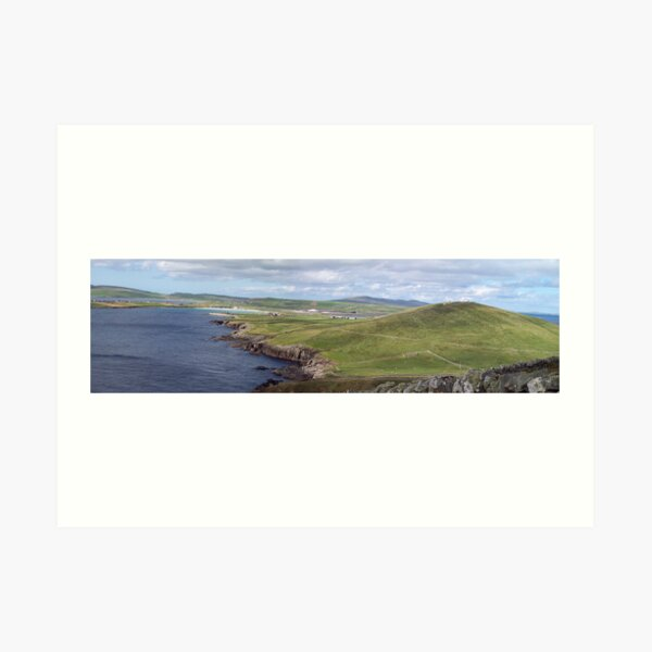 Shetland - Compass Point and airport Art Print