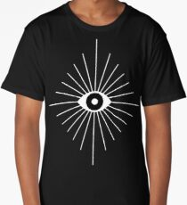Electric Eyes - Black and White Long T-Shirt