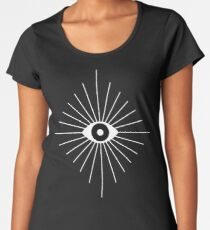 Electric Eyes - Black and White Women's Premium T-Shirt