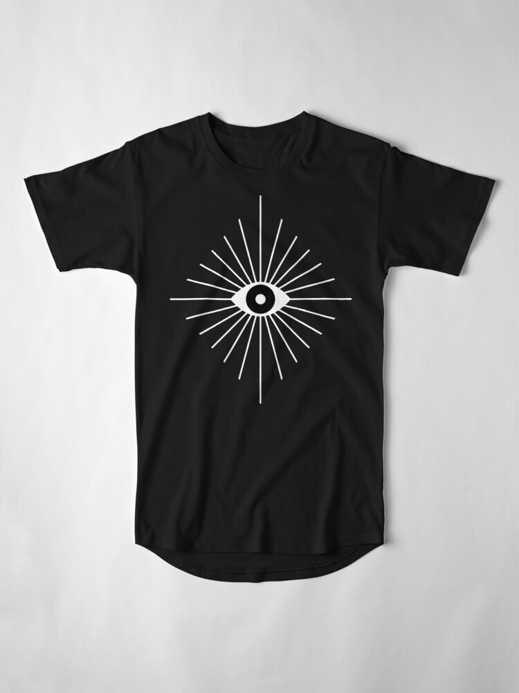 Alternate view of Electric Eyes - Black and White Long T-Shirt