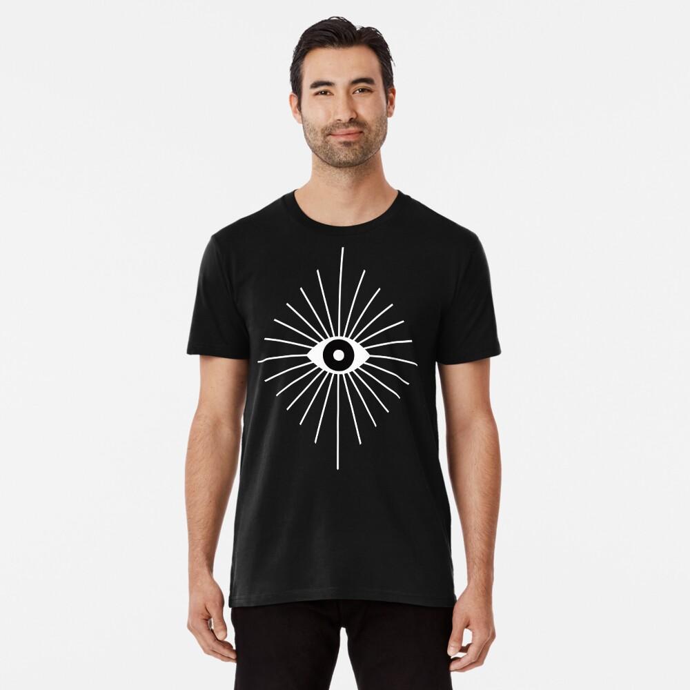 Elektrische Augen - Schwarzweiss Premium T-Shirt