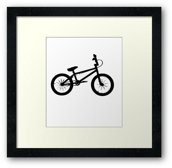 Láminas enmarcadas «bicicleta bmx» de airplanebrand | Redbubble