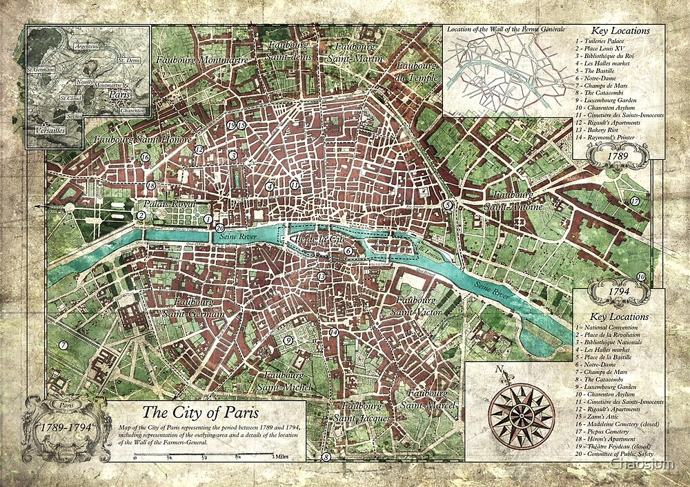 Reign Of Terror City Of Paris Keeper Map Call Of Cthulhu By