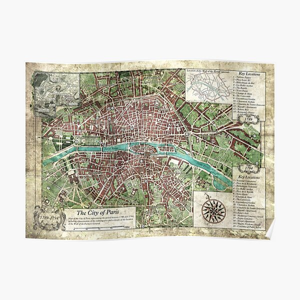Reign of Terror - City of Paris Keeper Map (Call of Cthulhu) by Olivier Sanfilippo Poster