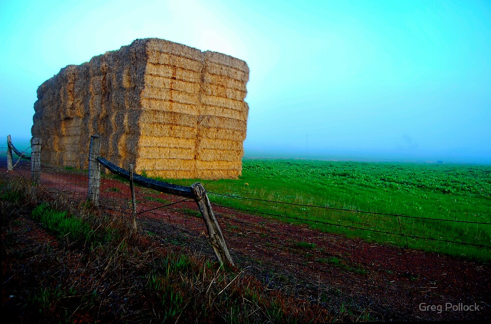 Morning hay by Greg Pollock