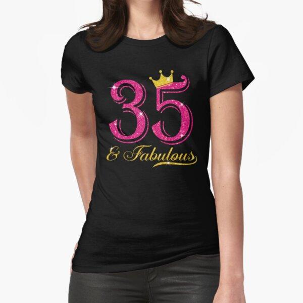 35th Birthday Women Fabulous Queen Shirt Camiseta entallada