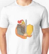 Old Knight Sword Shield Drawing T-Shirt