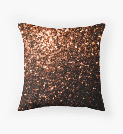 Beautiful Bronze Orange Brown glitters sparkles Throw Pillow