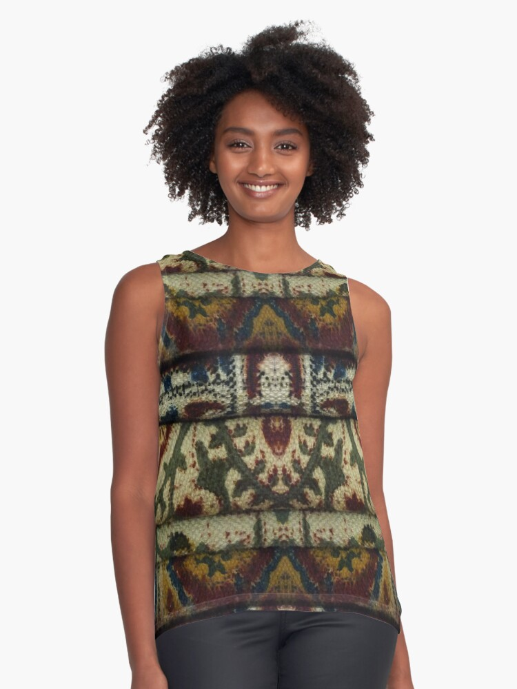 Tex Tile (pattern) Contrast Tank Front