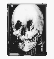 Woman with Halloween Skull Reflection In Mirror iPad Case/Skin