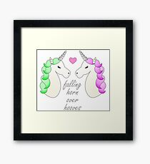 Horn over Hooves (in Love)- Unicorns Framed Print