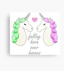 Horn over Hooves (in Love)- Unicorns Metal Print