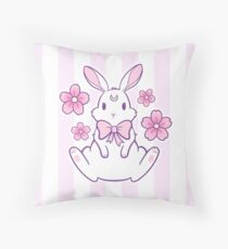 Sakura Bunny 02 Throw Pillow