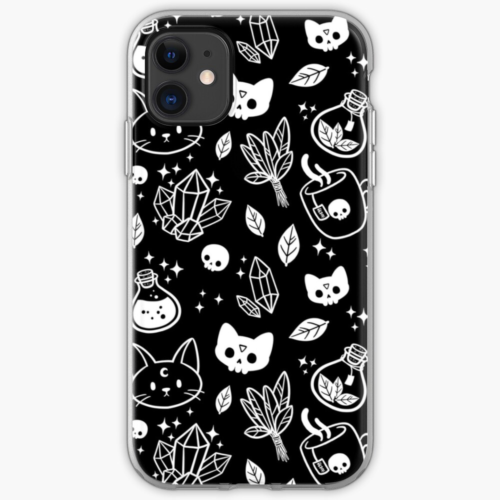 Herb Witch // Black & White iPhone Case & Cover