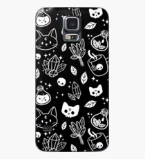 Funda/vinilo para Samsung Galaxy Herb Witch // Blanco y negro