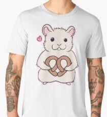 I love you more than this hamster loves pretzels Men's Premium T-Shirt