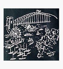 Lavender Bay on Sydney Harbour Photographic Print