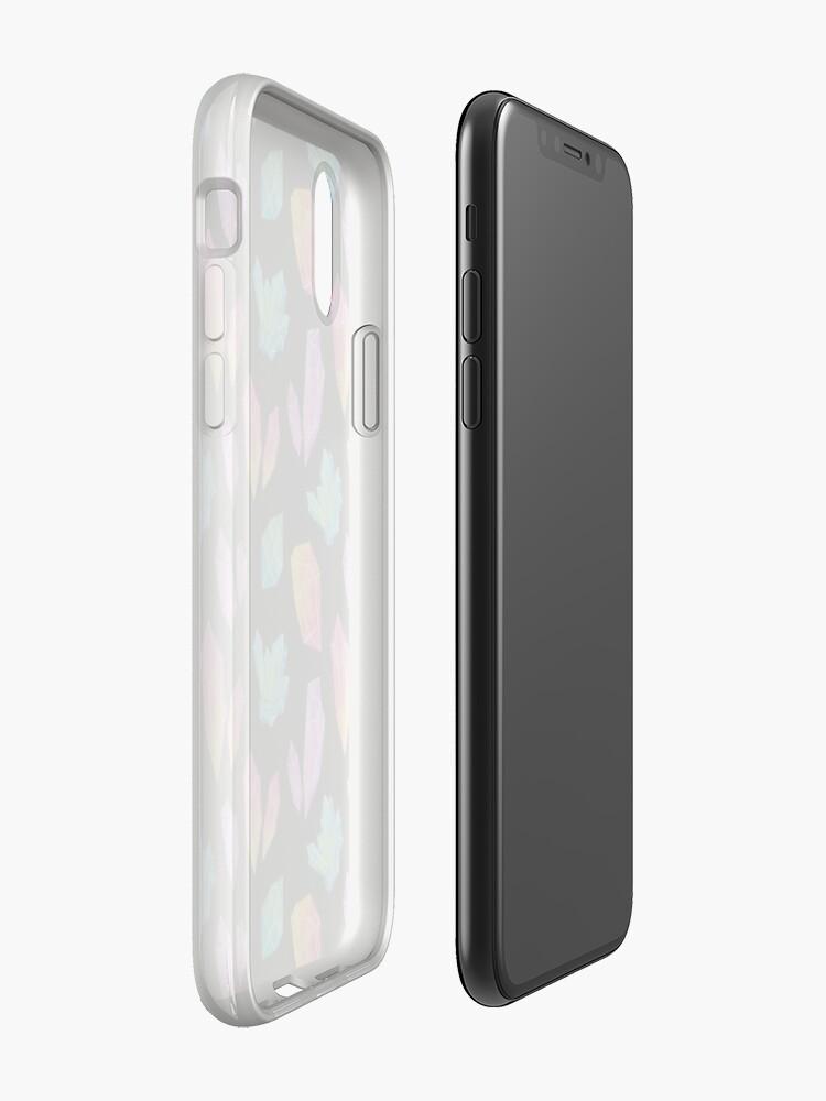 Alternative Ansicht von Aquarellkristalle // Schwarz iPhone-Hülle & Cover