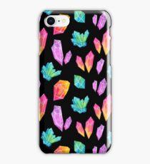 Watercolor Crystals // Black iPhone Case/Skin