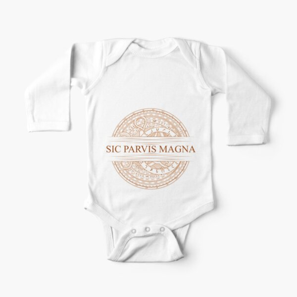 Sic Parvis Magna - Uncharted Long Sleeve Baby One-Piece