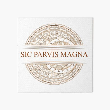 Sic Parvis Magna - Uncharted Art Board Print