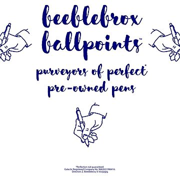 Beeblebrox Ballpoints by dtw42