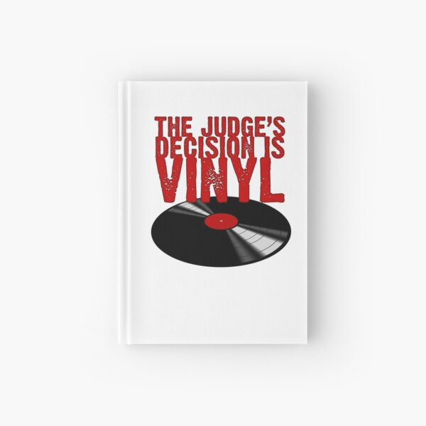 The Judge's Decision is Vinyl Hardcover Journal