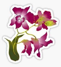 Beautiful purple orchid branch Sticker