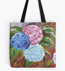 Hydrangeas in Acrylic Tote Bag