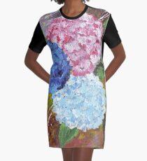 Hydrangeas in Acrylic Graphic T-Shirt Dress