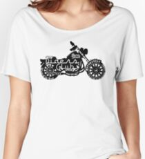 Black Motorbike Women's Relaxed Fit T-Shirt