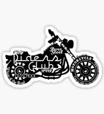 Black Motorbike Sticker