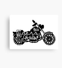Black Motorbike Canvas Print